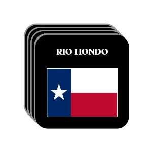 US State Flag   RIO HONDO, Texas (TX) Set of 4 Mini Mousepad Coasters