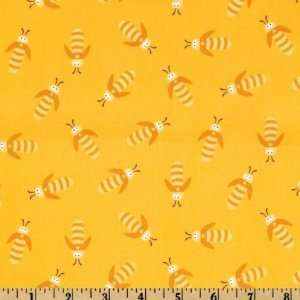 44 Wide Beetle Boy Beetles Yellow Fabric By The Yard