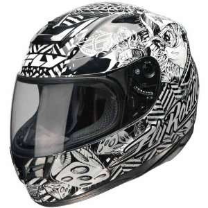 Fly Racing Paradigm Winners Circle Black/White Helmet   Color  Black
