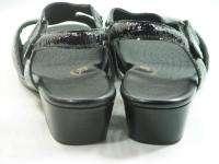 SAS Tripad Suntimer Black Snake Embossed Leather Sandals Shoes 10.5 W