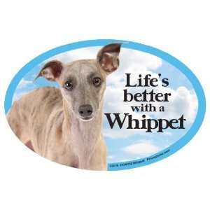 Whippet Oval Dog Magnet for Cars: Pet Supplies