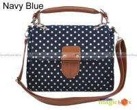 Women Dot Vintage Canvas Crossbody Shoulder Bag #456