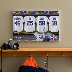 Chicago Cubs Personalized MLB Baseball Locker Room Canvas   12x18