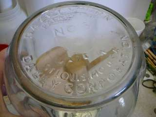 Football Red Top Dazey 8 Quart Dairy Farm Butter Churn Glass Jar