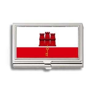 Gibraltar Gibraltarian Flag Business Card Holder Metal