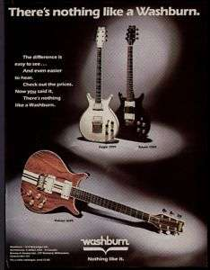 1982 EAGLE, RAVEN, & FALCON WASHBURN GUITARS AD |