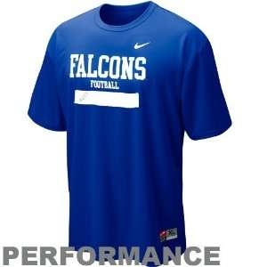 Nike Air Force Falcons Royal Blue Dri FIT Weight Room Performance T