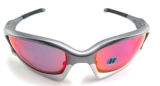 New Oakley Sunglasses Split Jacket Dark Grey +Red Iridium Polarized