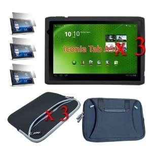 Laptop Dual Pocket Carryng Case + Black Flow Laptop Carrying Bag for