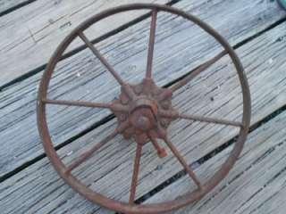 CAST IRON spoke rim 16in WHEEL 4 wood WHEELBARROW cart WAGON