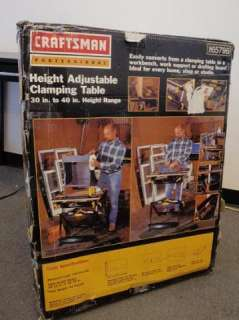 Craftsman 65796 Professional Height Adjustable Clamping Table