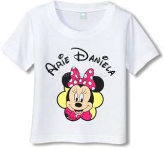 Minnie Mouse T Shirt personalized with your choice of ANY name and or