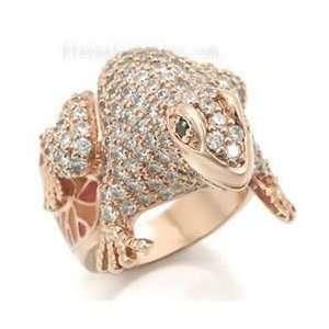 Jewelry   Rose Gold Frog CZ Animal Ring SZ 5 Jewelry