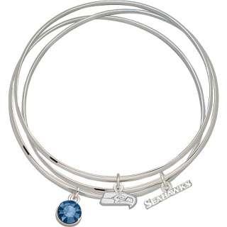 LogoArt Seattle Seahawks 5/16 inch X 3/4 inch Crystal Bangle Bracelets
