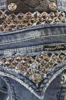 BNWT Miss Me Jean Ladies Studs Stones Boot Jeans Pants