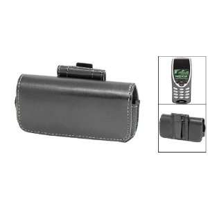 Metal Clip Black Leather Case Cover for Nokia 8260 Electronics