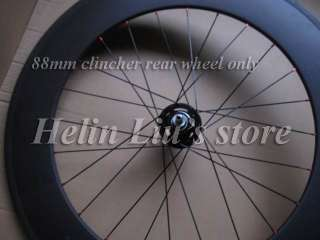 88mm clincher carbon Track/ Fixed gear Rear wheel only