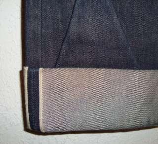 Vintage Repro Levis Big E Jeans~501 XX~Red Line~Button Fly~Dark Denim