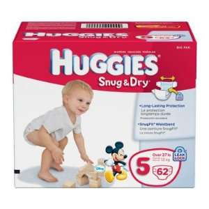 Huggies Snug & Dry Diapers, Size 5   62 ct Baby