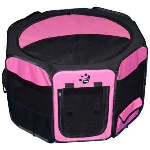 Travel Lite Soft Sided Pet Pen with Removable Top Pink 46