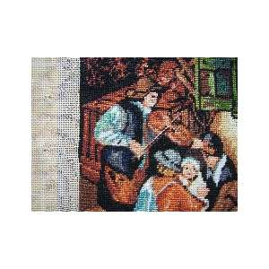 TAPESTRY NEEDLEPOINT GOBELIN  FIDDLER  COLLECTORS PIECE