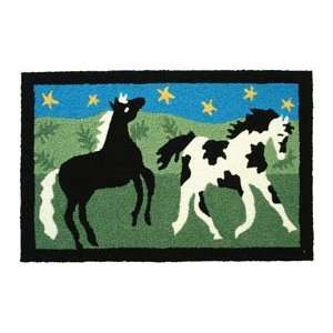 Black & White Paint Horse Jelly Bean Accent Rugs Home