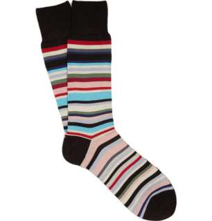 Socks  Casual socks  Multi Stripe Cotton Blend Socks