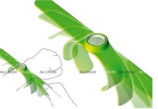 10 Pcs Lot Bulk Slap Snap On Lady Mens Silicone Jelly Bracelet Watch