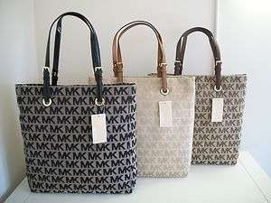 NWT Michael Kors Large MK Logo Jacquard Tote Bag $198 Your Choice of