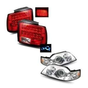 LED Halo Projector Headlights 1PC + LED Tail Lights Combo Automotive