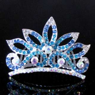 ADDL Item  rhinestone crystal crown hair comb tiara