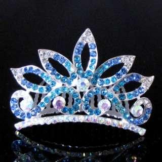 ADDL Item  rhinestone crystal crown hair comb tiara
