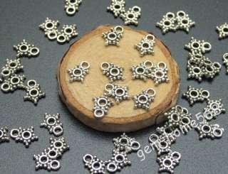 400 Tibetan Silver Tiny Dots Star Charm Pendant C075