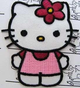 Hello Kitty Katze Patch Motiv Aufnäher Aufbügler Motif