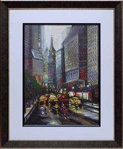 City Street I by J. Adams Street Scene Cityscape Print