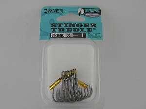 Owner Stinger Treble Hooks (size 1) ST 36BC 5636 NEW