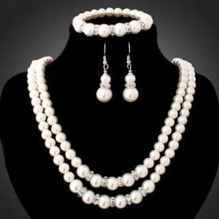 ARINNA Swarovski Crystal earring necklace bracelet set
