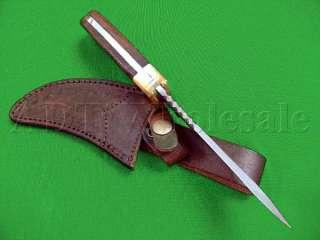 10 RARE Custom Made DAMASCUS BOWIE Hunting Knife NIB