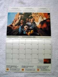 1992 DISNEYWORLD BURGER KING CALENDAR 20 MAGICAL YEARS