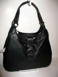 NWT COACH SOHO LARGE BLACK LEATHER HOBO SHOULDER BAG 17092 100%