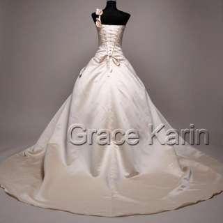 Quinceanera Luxury Wedding Dress Bride Bridal Gown Full length formal