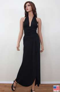 Black Brown Burgundy Pink Formal Evening Maxi Long Dress Gown