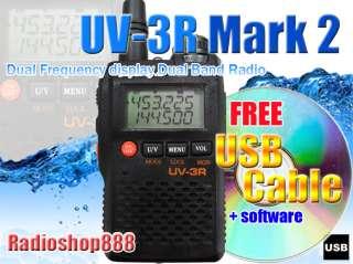BAOFENG New UV 3R Mark 2 136 174/400 470Mhz Dual Band Radio + USB
