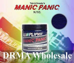 MANIC PANIC AMPLIFIED Semi Permanent Hair Dye Color SHOCKING BLUE 4 Oz