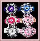 sets x baby girls hair clip Party bow Stripe daisy flower crochet