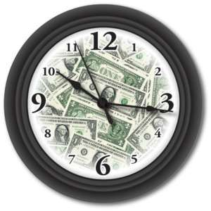 US MONEY WALL CLOCK   USA UNITED STATES DOLLAR   GIFT
