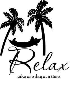 Relax take one day Decal Sticker Wall Home Decor