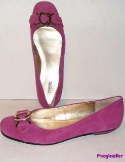 Next womens Jamee low heel loafers shoes 7 M dark pink