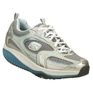 SKECHERS Shape Ups Womens XF Accelerators Silver Blue Sneakers Shoes