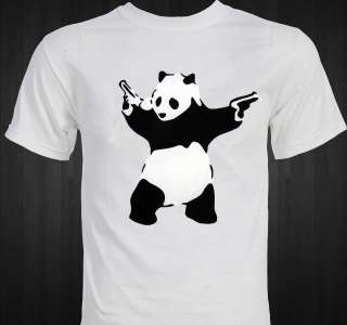 BANKSY   Panda   Graffiti art   protest   anti war T shirt